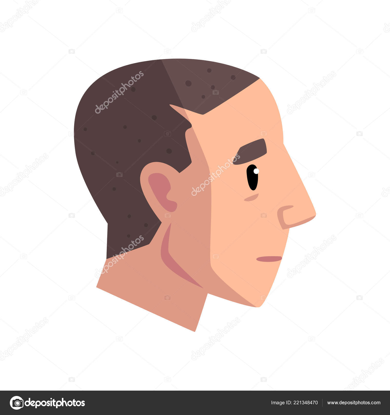 Cabeza de hombre joven con corte de pelo corto 8259488931a