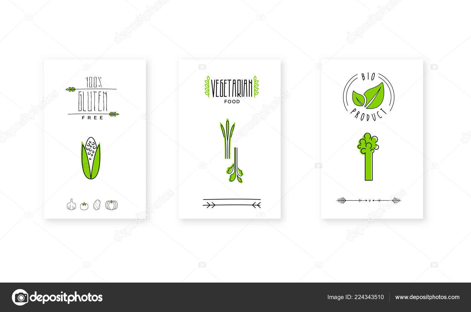 Bio product logo, vegetarian food badges, emblem can be used