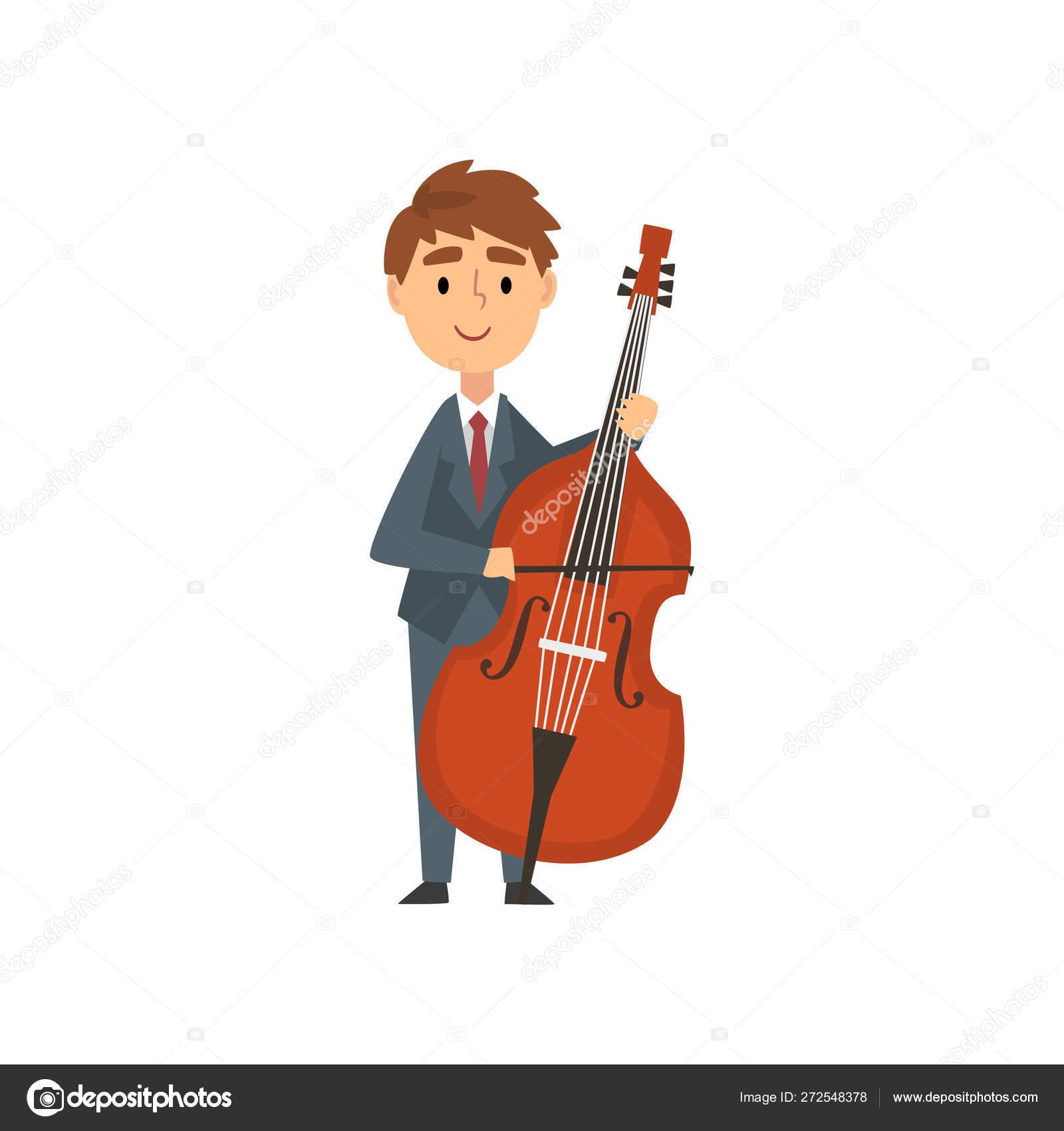 Boy Cello Player Talentoso Joven Personaje Violonchelista