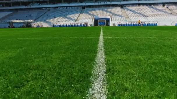 Field football stadium lawn