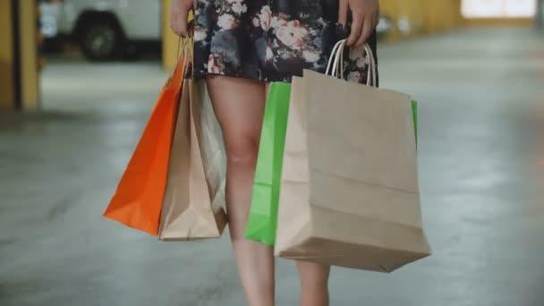 žena hospodářství nákupní tašky
