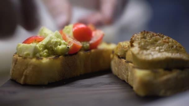 Classic Italian bruschetta on toasted bread
