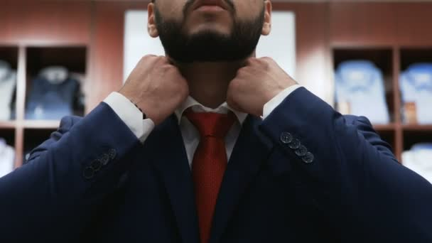 Bearded business man Corrected Red Tie