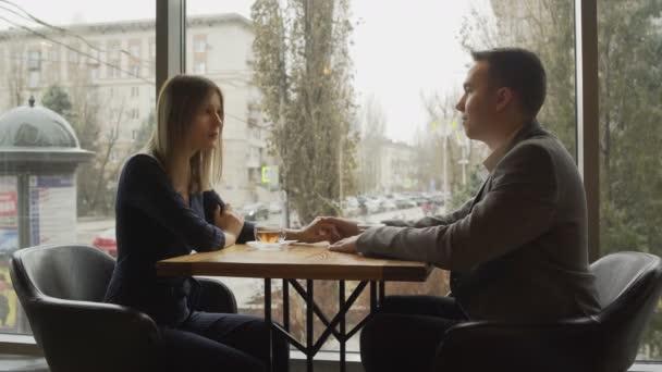 Beautiful Man and beautiful woman quarrel