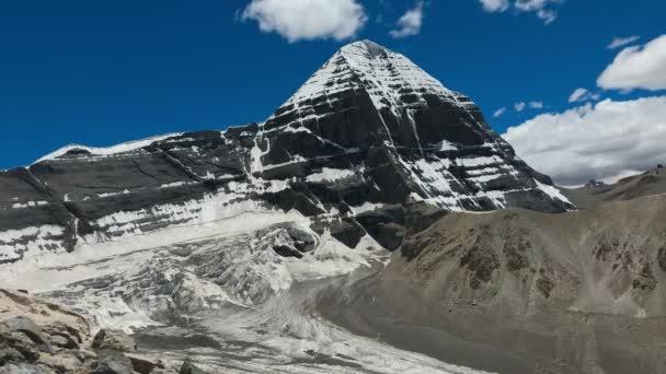 Bewegende Wolken und blauer Himmel über dem Kailash Mount, Westspiegel Dharma King Norsang kora Time lase