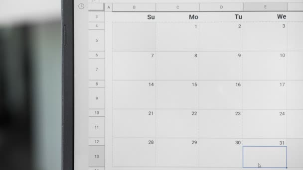 Writing STUDY TIME on 31th on calendar to remember this date.