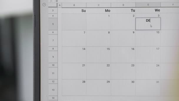 Writing DEADLINE on 3th on calendar to remember this date.