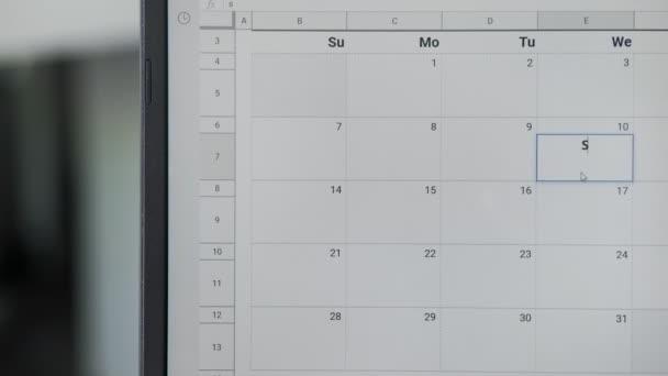 Doba studia psaní 3. na kalendář pro zapamatování si tohoto data.
