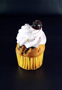 still life food confectionery cherry cream cake
