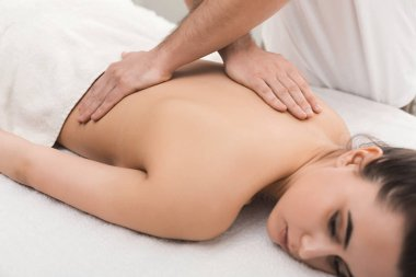 Classical body massage at physiotherapist office