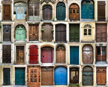 Vintage doors collage