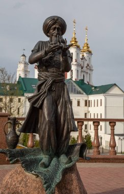 The monument to the hero of the book by Lazar Lagin to the old Hottabych in Vitebsk