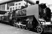 Fotografie  old  locomotive  train     at station