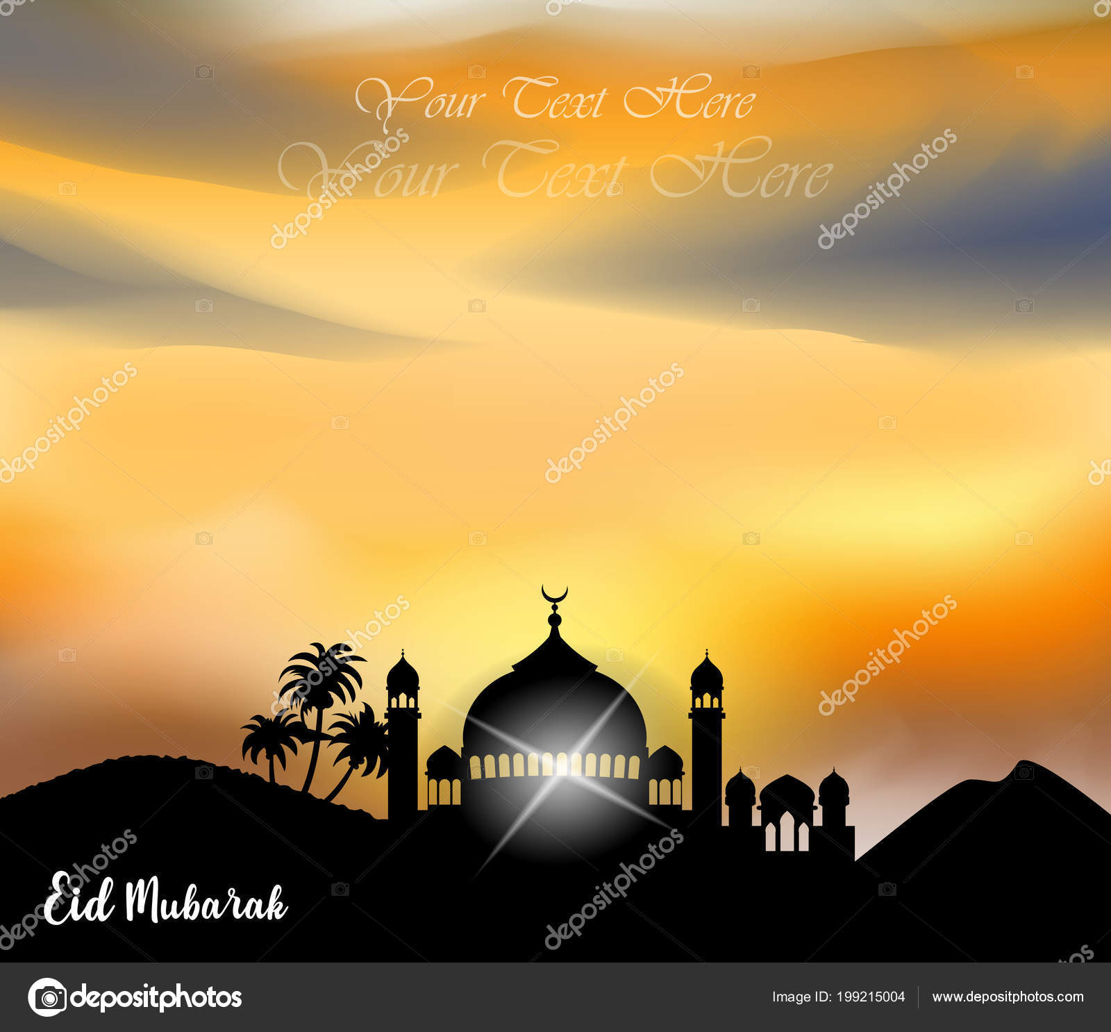 Zusammenfassung Hintergrund Für Islamische Gruß Eid Mubarak ...