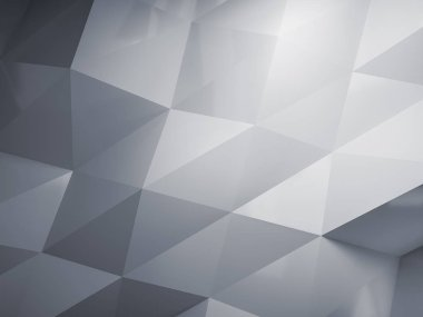 Abstact geometric low poly background. 3D render.