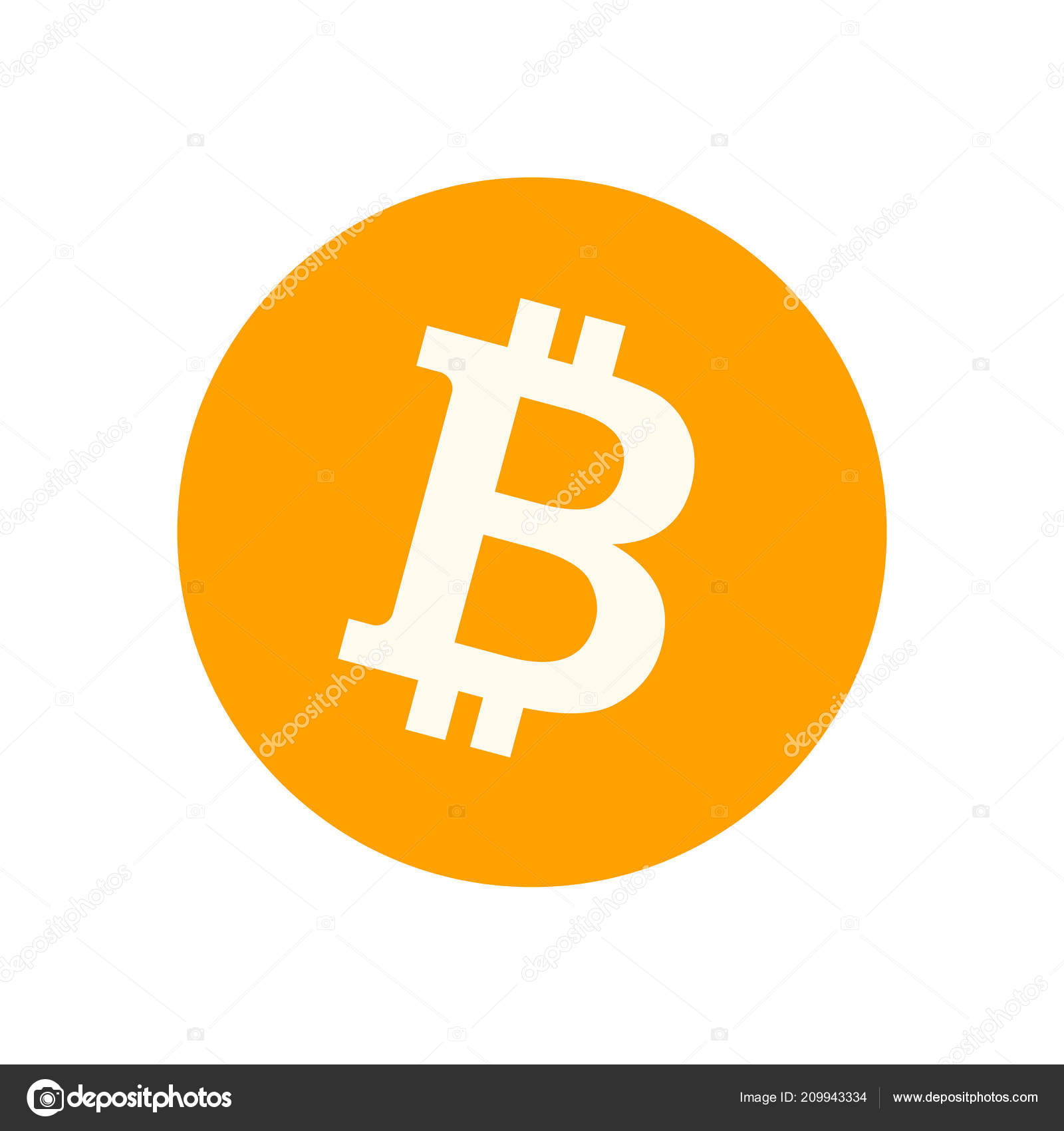 Bitcoin Symbol Isolated On White Background
