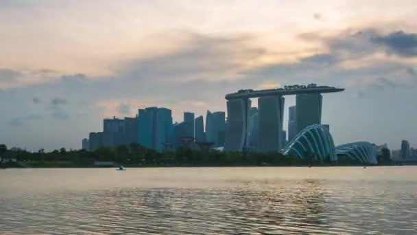Time Lapse video of Singapore city skyline in Singapore timelapse 4K