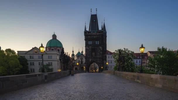 Timelapse z staré město s Karlův most v Praze city, Česká republika časová prodleva 4k