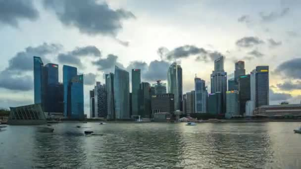 Singapore skyline day to night timelapse in Singapore city time lapse 4K