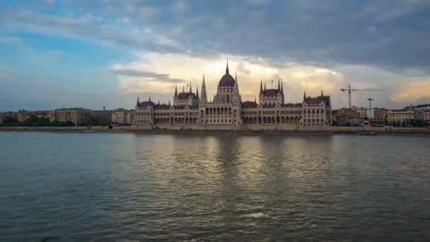 TimeLapse Budapest város városkép a Duna magyarországi idő laspe 4k