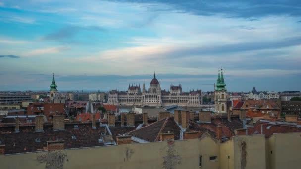 Budapest city skyline az Országház a budapesti city, Magyarország idő laspe 4k