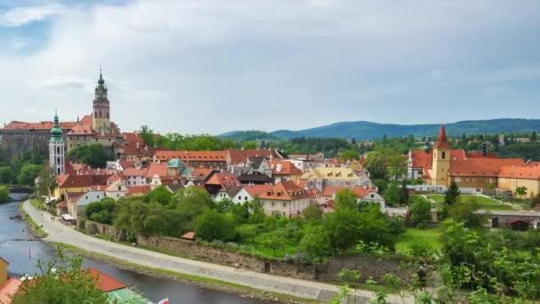 Český Krumlov Panorama timelapse v České republice časová prodleva