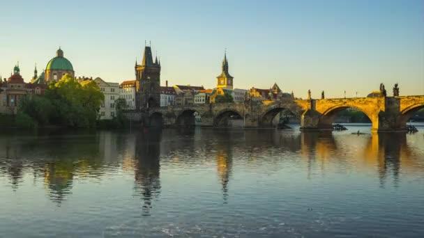 Prague city Panorama timelapse v Praha, Česká republika časová prodleva