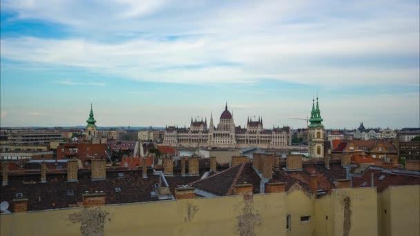 Budapest városkép timelapse-az Országház, Budapest, Magyarország