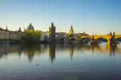 Karlův most s Pražským městem Panorama v České republice