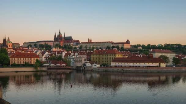Pohled na panorama Prahy v České republice.