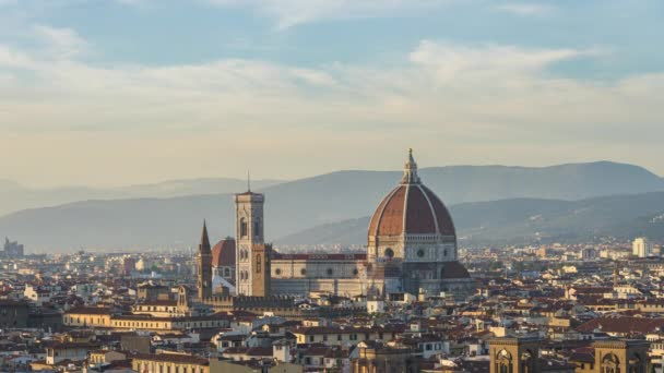 Duomo of Florence with sunset in Tuscany, Italy.