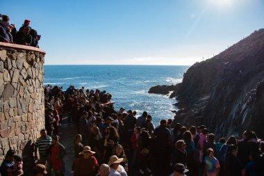 La Bufadora, Baja California Norte, Mexico, January 4th, 2019, Blowhole of la Bufadora, famous attraction of Ensenada
