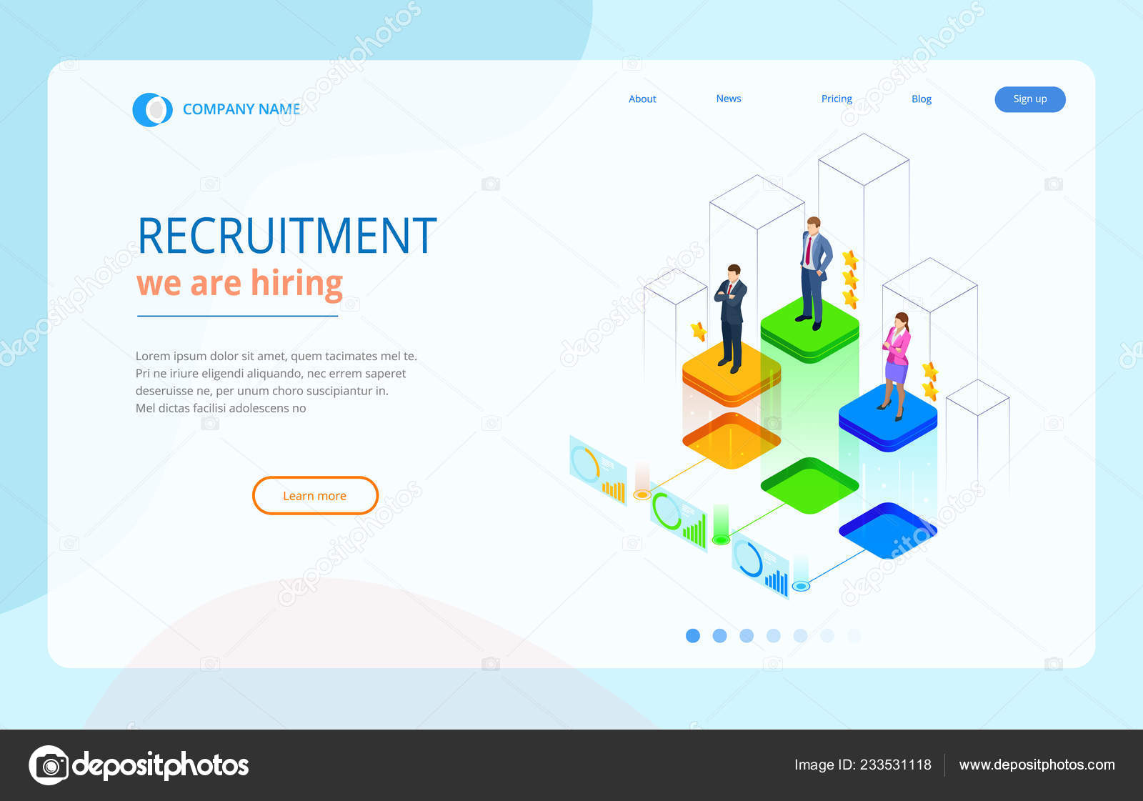 Online Job Search >> Isometric Online Job Search And Human Resource Recruitment