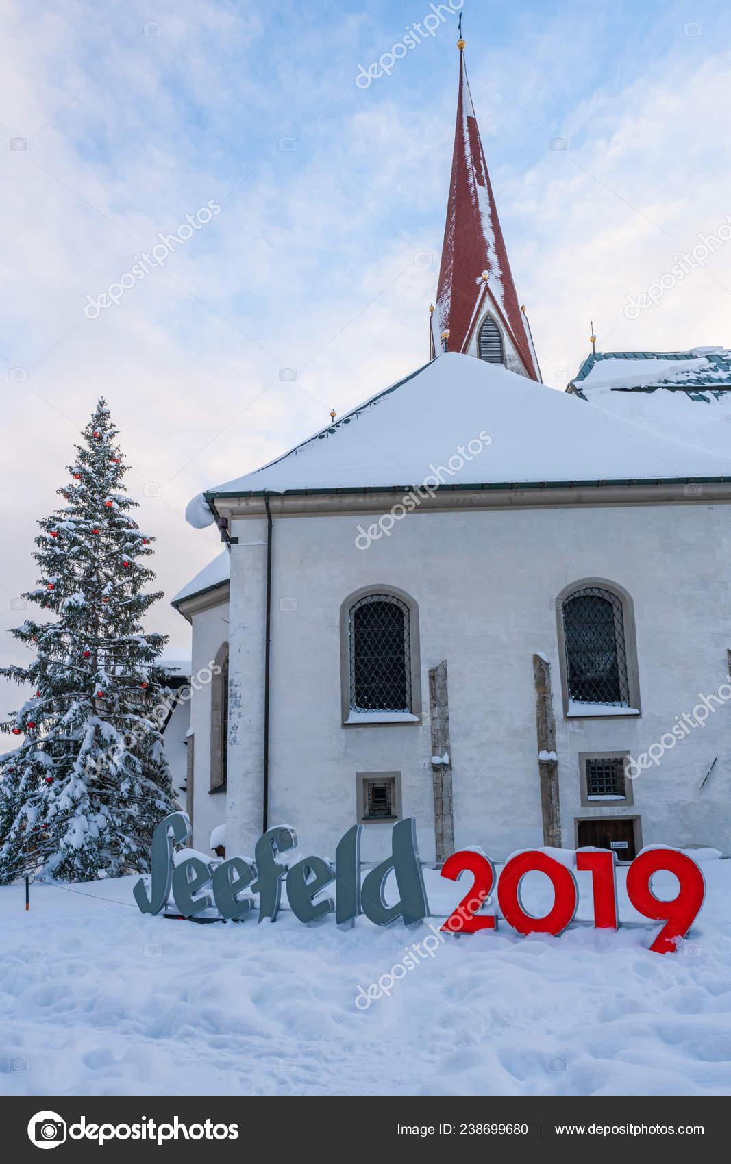 Christmas In Austria 2019.Seefeld Austria January 2019 View Oswald Parish Church