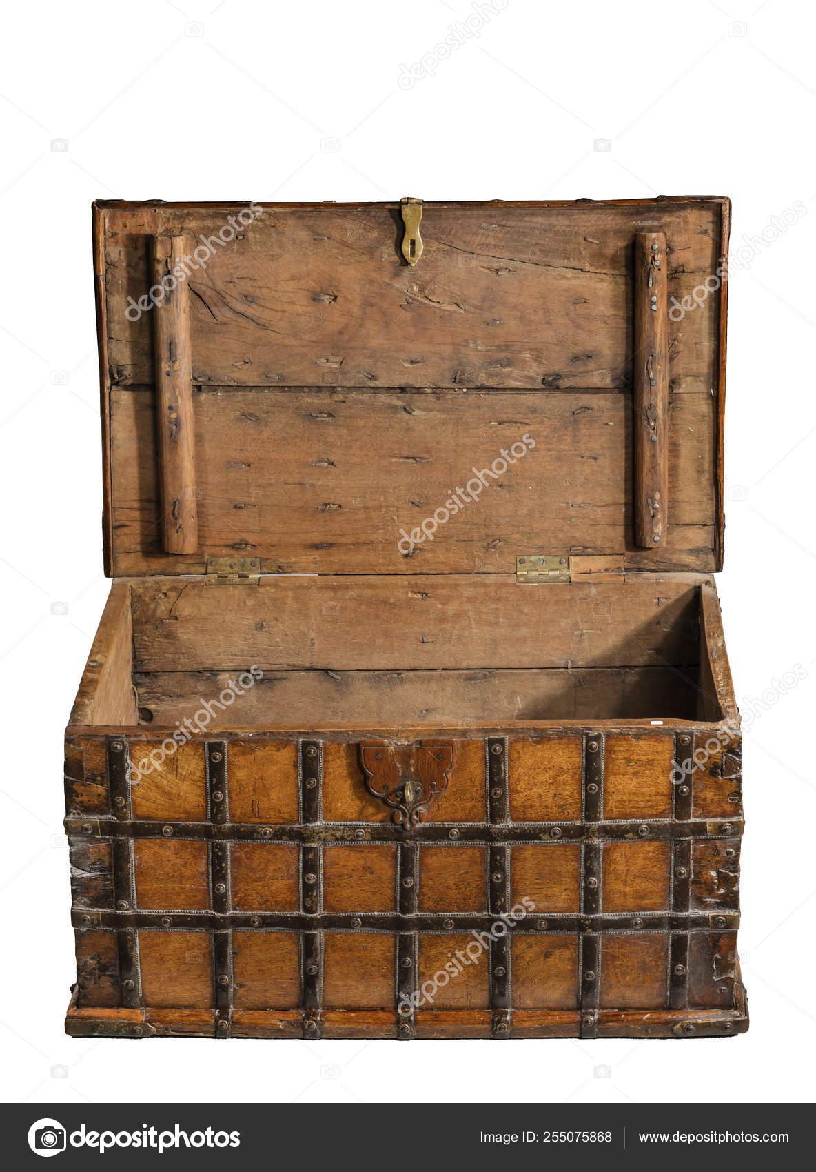 Oude Koffer Kist.Open Oude Koffer Kist Oude Antieke Stockfoto C Jak30