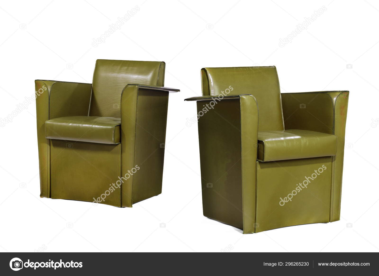Excellent Unusual Modern Leather Arm Chairs Stock Photo C Jak30 Machost Co Dining Chair Design Ideas Machostcouk