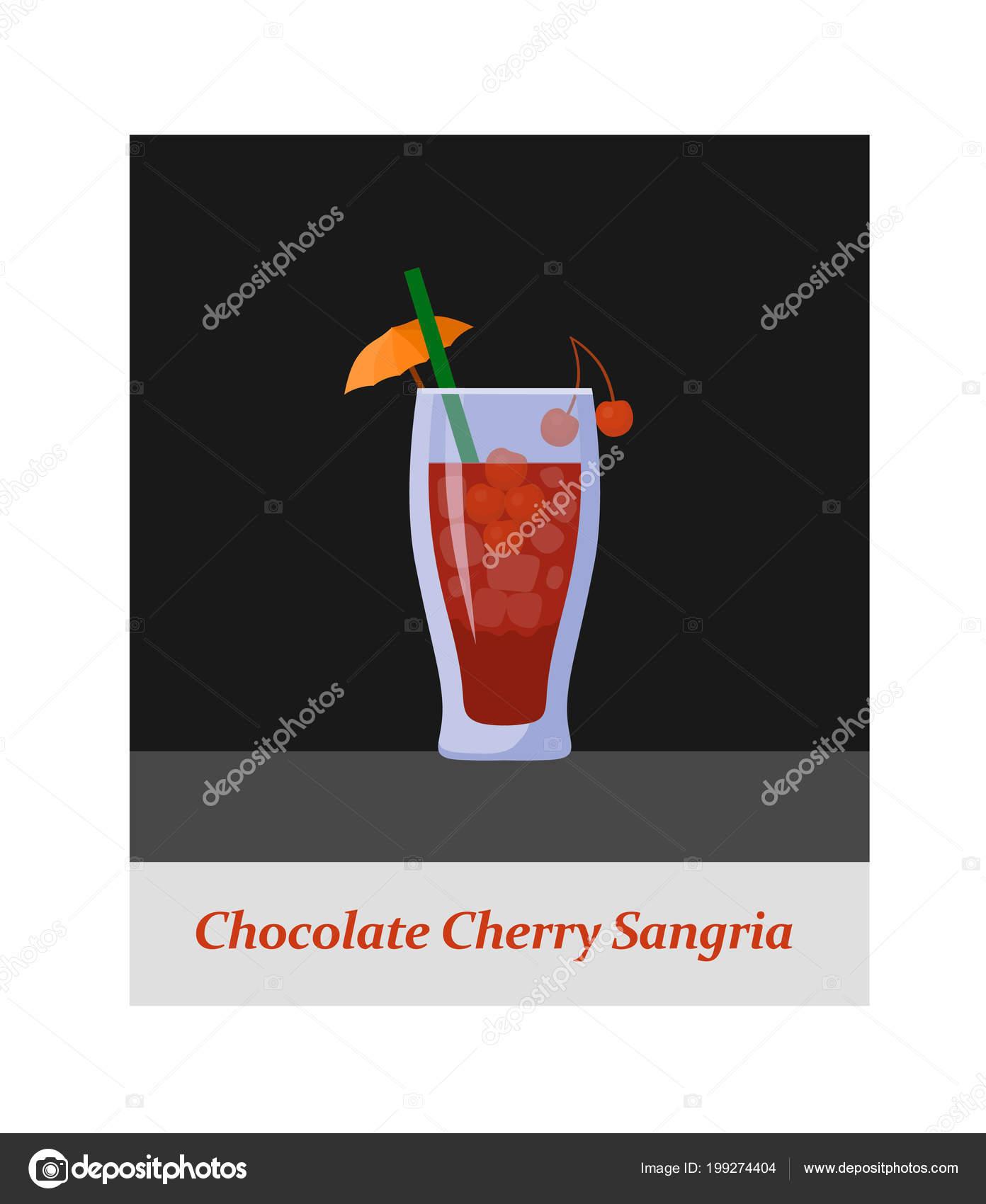 5294a92f2 Menú Cocktail Sangría Cereza Chokolate Cualquier Tipo Diseño Copa Fiesta —  Archivo Imágenes Vectoriales