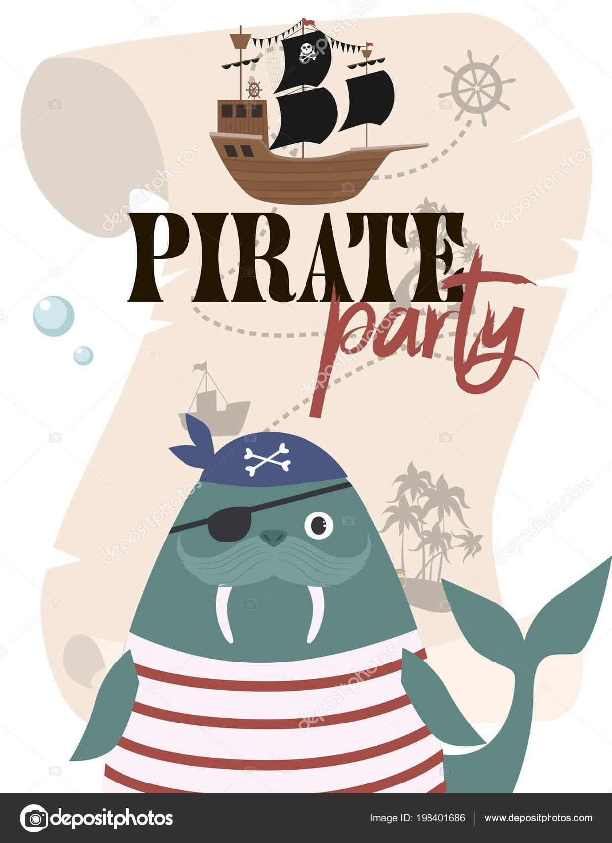 Invitaciones Piratas Para Imprimir Tarjeta Invitación