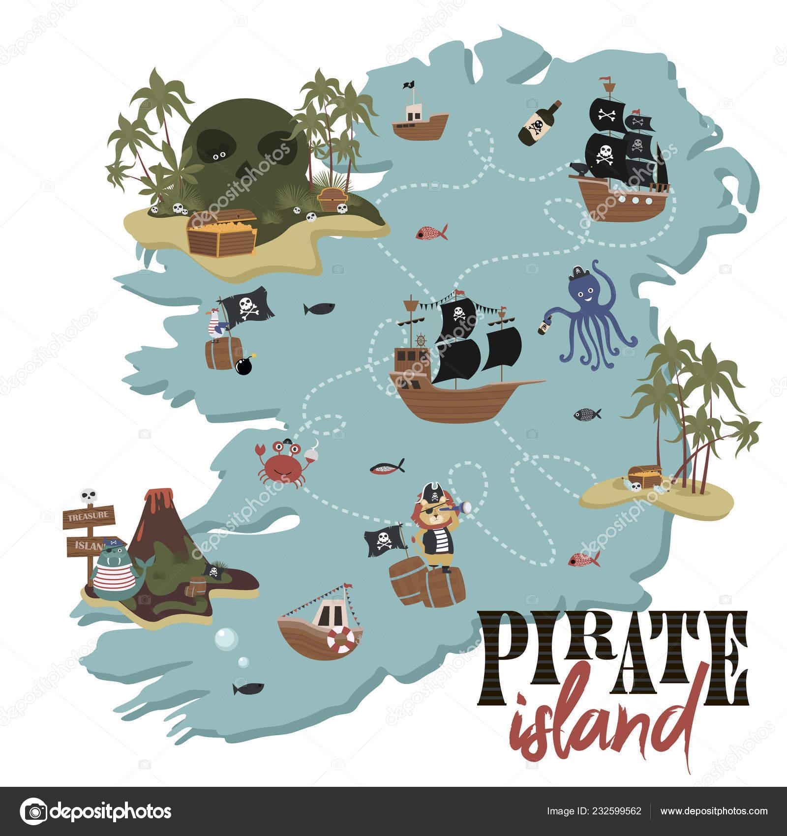 Carte Trésor Carte Invitation Anniversaire Pirate Style ...