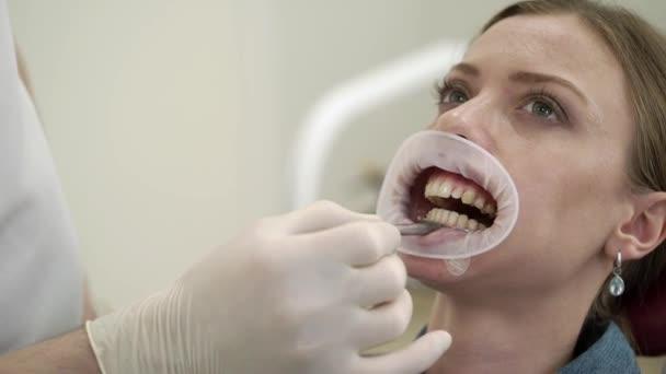Patient woman at dentist