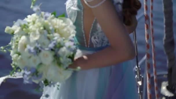 Bride at sail yacht