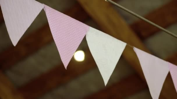 Paper flags decoration
