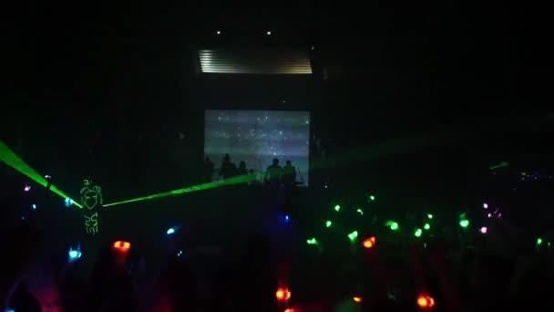Laser show in night club