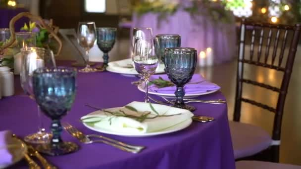 Wedding decor. Wedding interior. Table layout concept. Table decor of newly married. Restaurant interior. Expectation of guests.