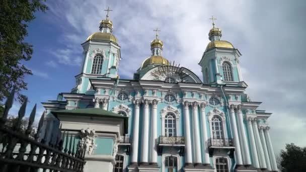 St. Nicholas námořní katedrála v Saint Petersburg Rusko barokní ortodoxní katedrála