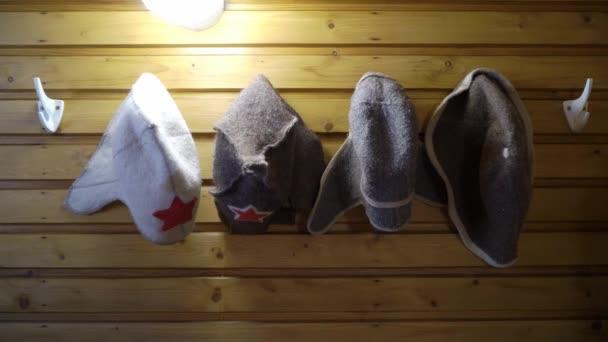 Interiér sauny - v teplé sauně