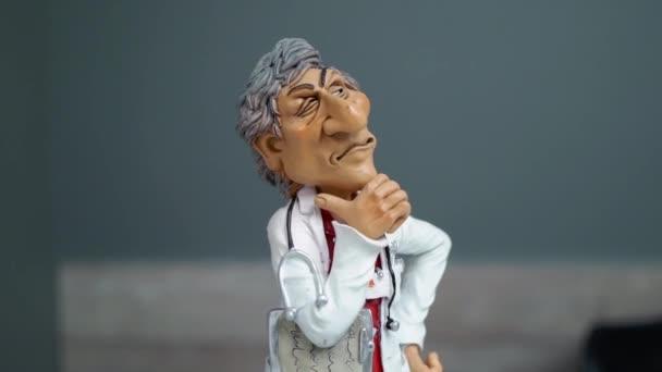 Abbildung der Arzt im Krankenhaus. Medizin. Empfang in der Klinik