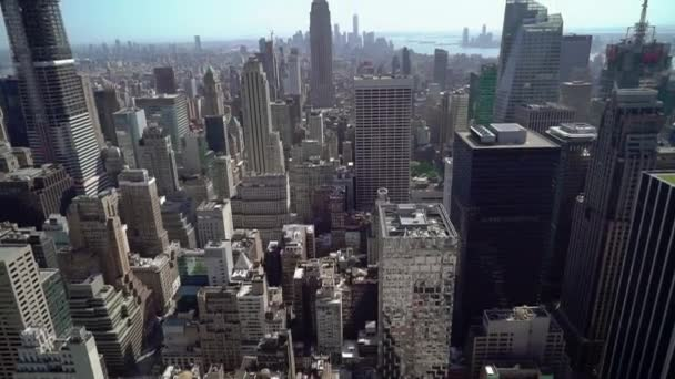 Top aerial view at Manhattan in New York