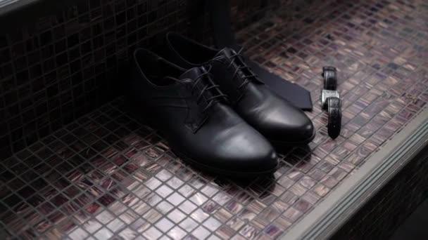 Mans black shoes