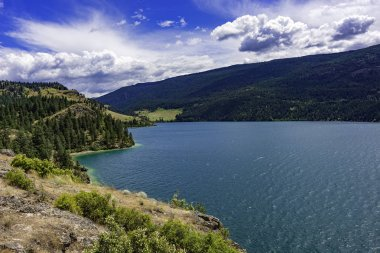 View of Kalamalka Lake from Kalamalka Lake Provinial Park near Vernon British Columbia Canada
